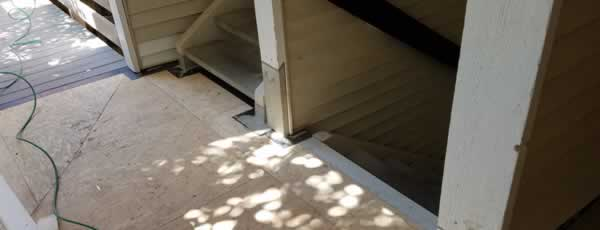 Wood Solutions LLC multi-family building stairs repairs